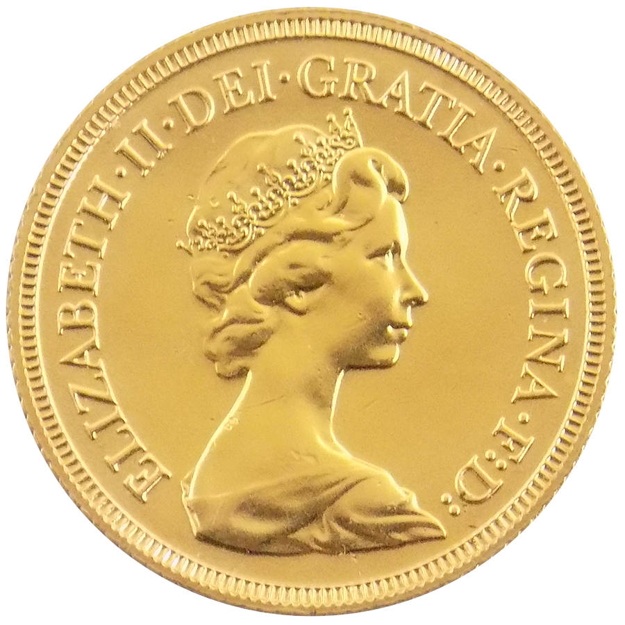 Pre-Owned 1982 UK Elizabeth II Full Sovereign Gold Coin