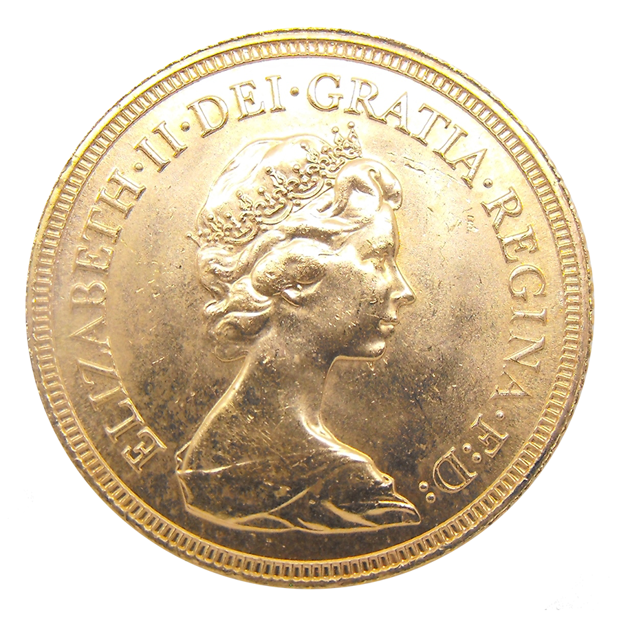 Pre-Owned 1981 UK Elizabeth II Full Sovereign Gold Coin