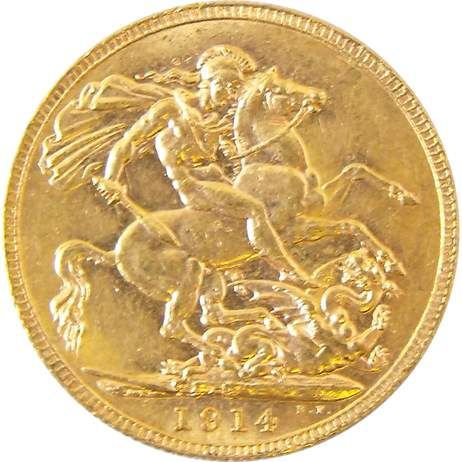 Pre Owned 1914 Perth Mint Full Gold Sovereign