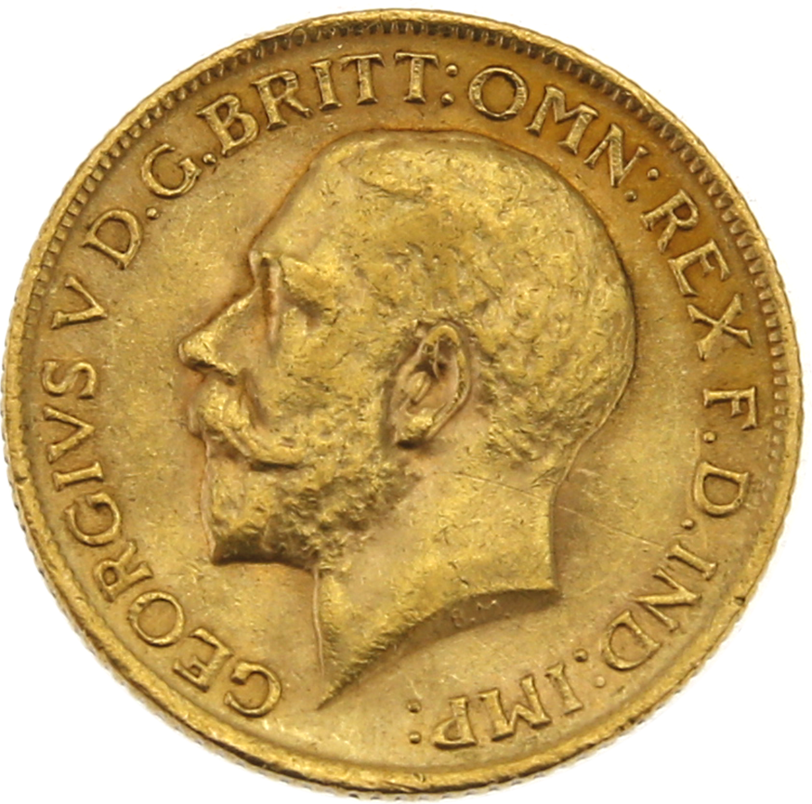 Pre-Owned 1914 London Mint George V Full Sovereign Gold Coin