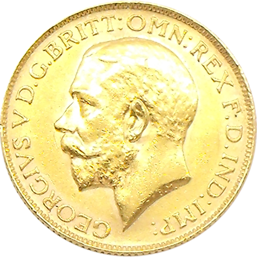 Pre-Owned 1925 South Africa Mint George V Full Sovereign Gold Coin