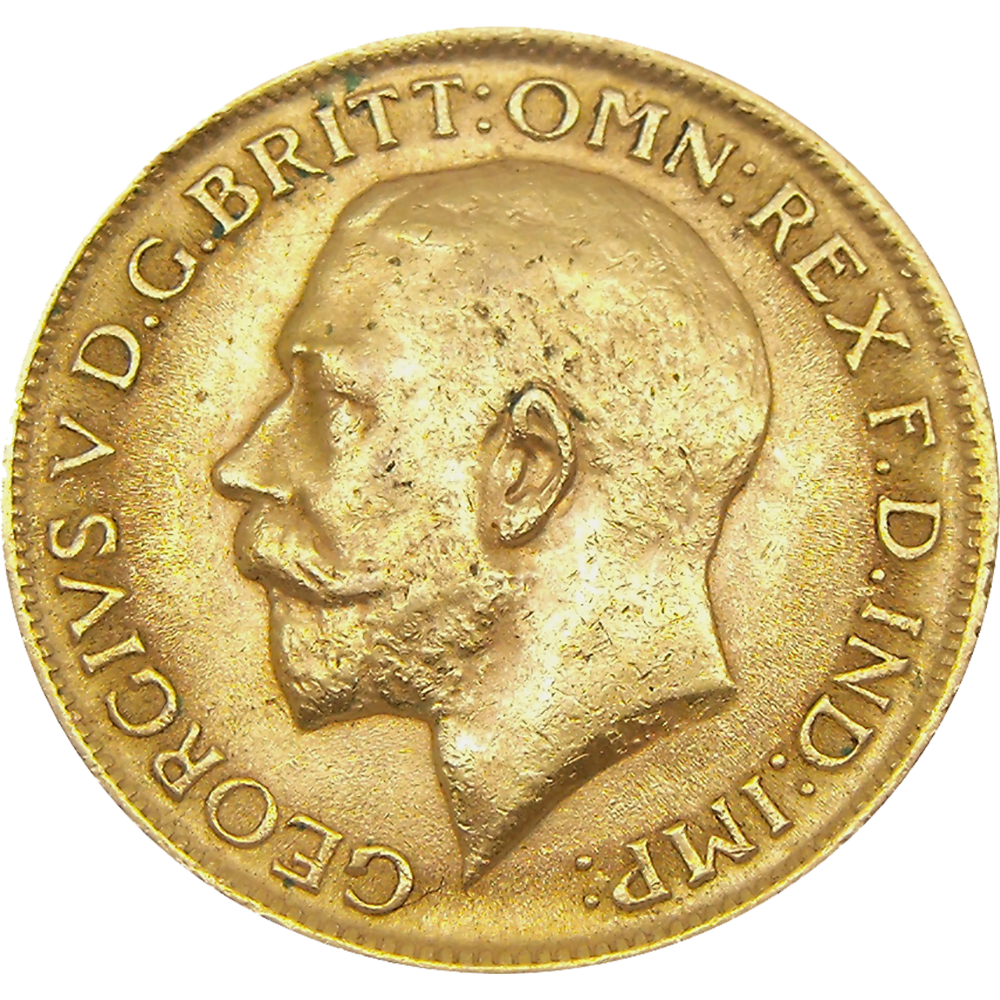 Pre-Owned 1913 Perth Mint George V Full Sovereign Gold Coin (Image 1)