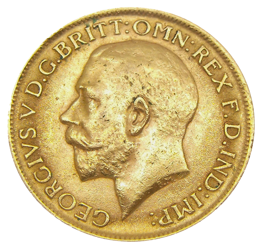 Pre-Owned 1912 Melbourne Mint George V Full Sovereign Gold Coin