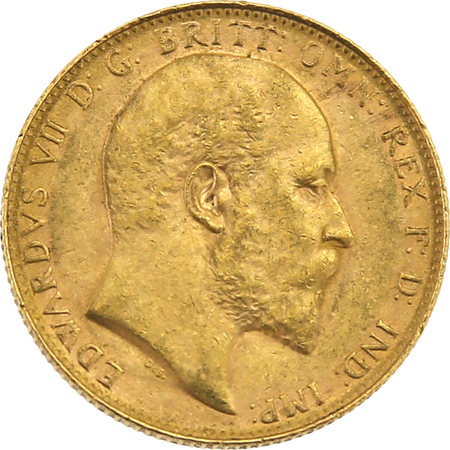 Pre-Owned 1908 Perth Mint Edward VII Full Sovereign Gold Coin