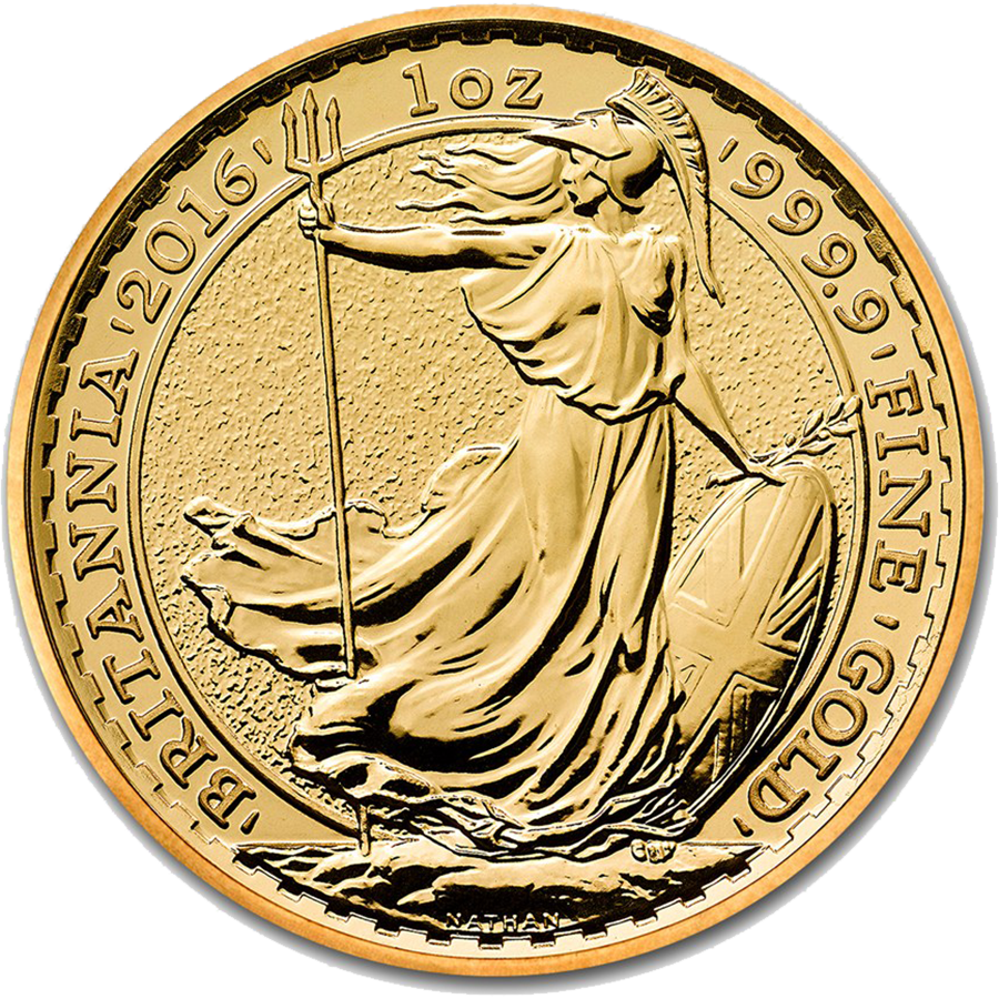 2016 UK Britannia 1oz Gold Coin