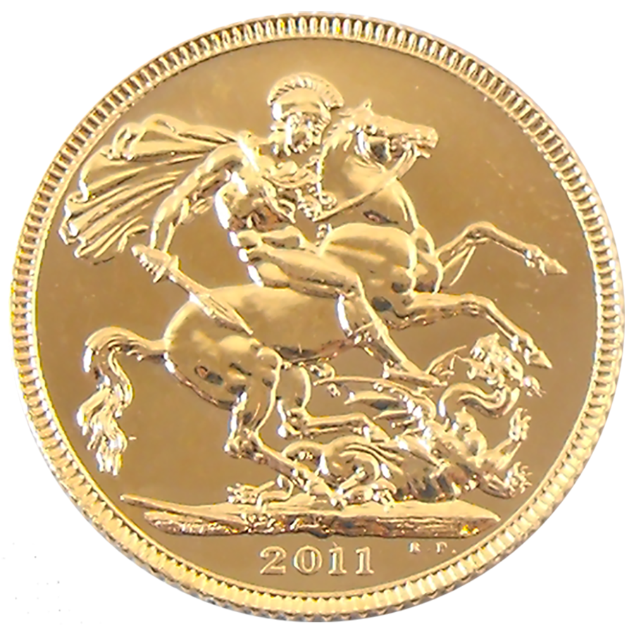 Pre-Owned 2011 UK Full Sovereign Gold Coin (Image 2)