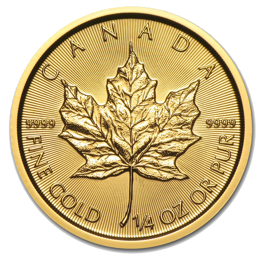 2016 Canadian Maple 1/4oz Gold Coin
