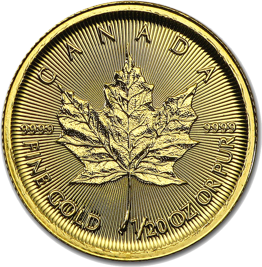 2016 Canadian Maple 1/20oz Gold Coin