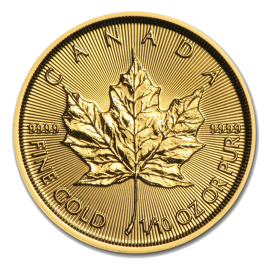 2016 Canadian Maple 1/10oz Gold Coin