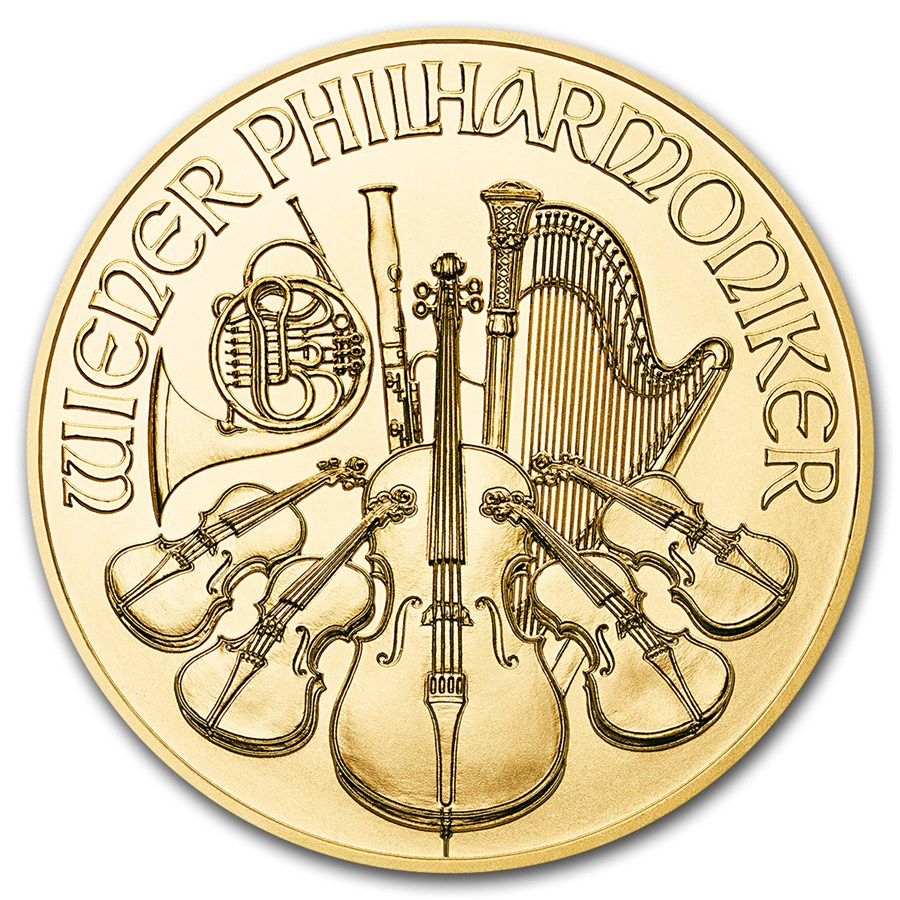 2016 Austrian Philharmonic 1/4oz Gold Coin