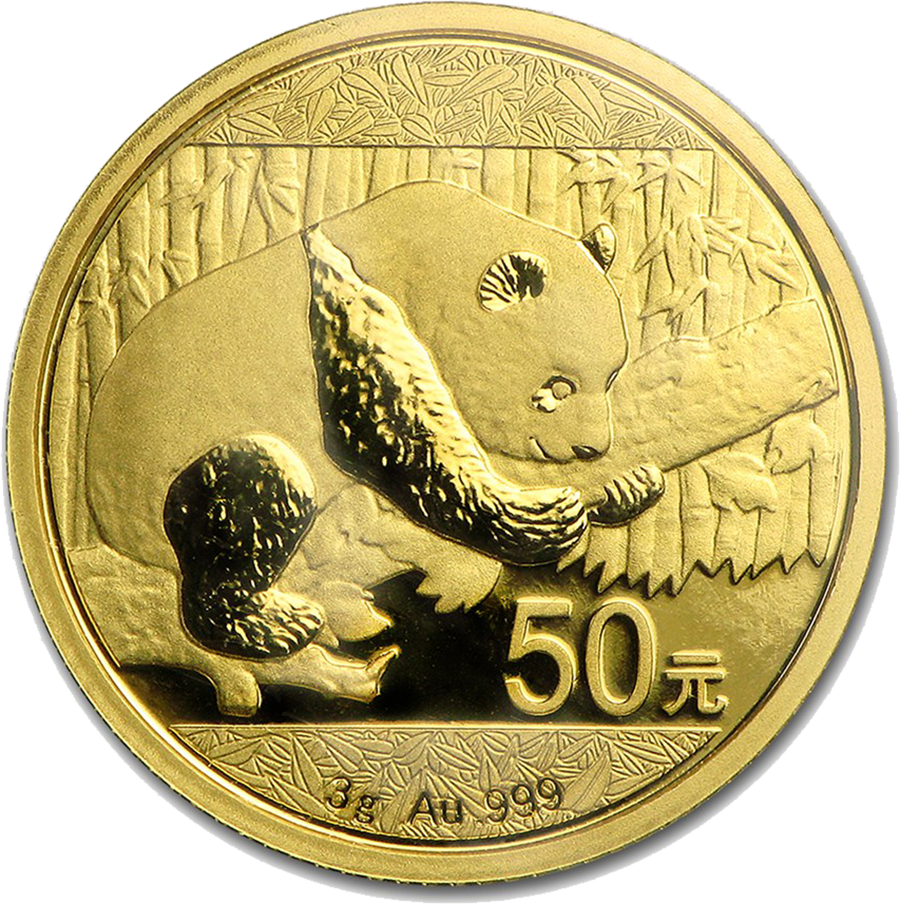 2016 Chinese Panda 3g Gold Coin