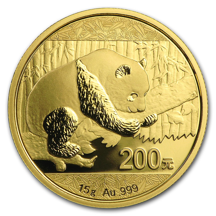 2016 Chinese Panda 15g Gold Coin