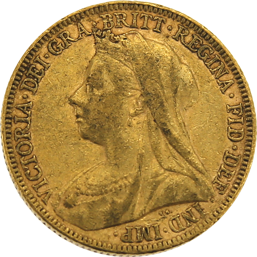 Pre-Owned 1895 UK Victoria Veiled Head Full Sovereign Gold Coin
