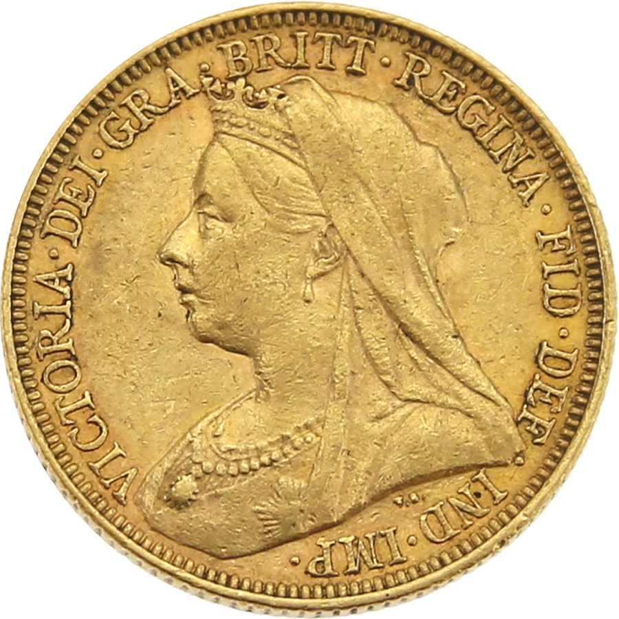 Pre-Owned 1895 Melbourne Mint Victoria 'Veiled Head' Full Sovereign Gold Coin