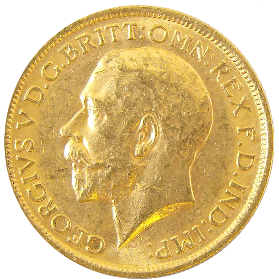 Pre-Owned 1914 Sydney Mint George V Full Sovereign Gold Coin