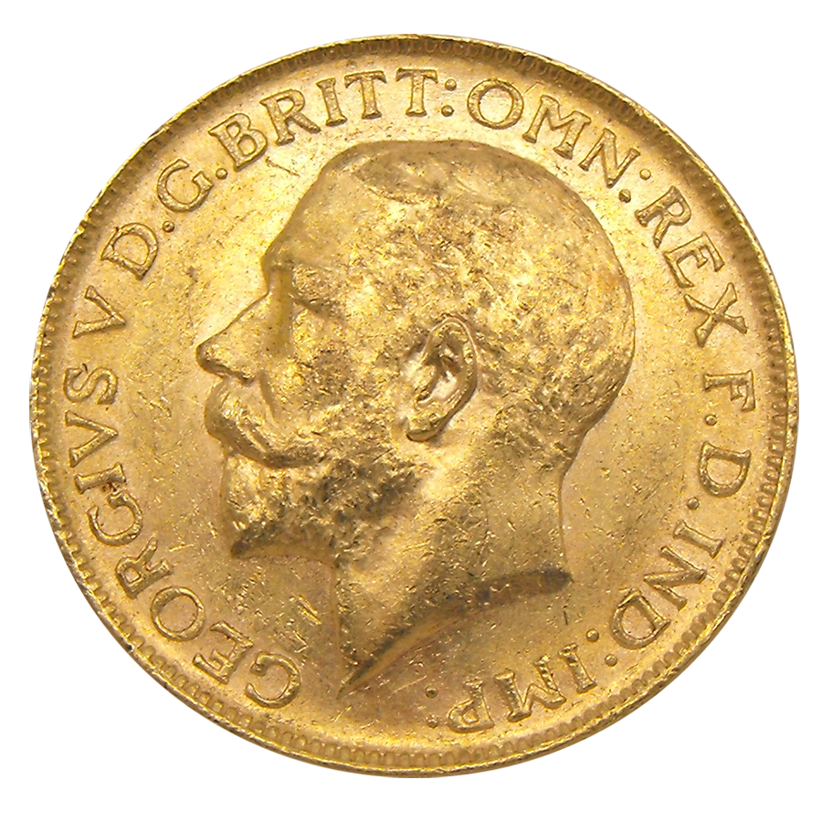 Pre-Owned 1912 Perth Mint George V Full Sovereign Gold Coin