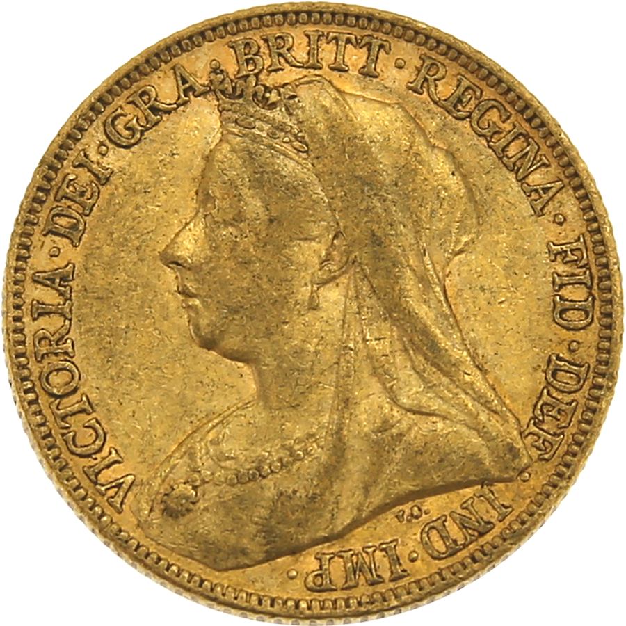Pre-Owned 1899 Melbourne Mint Victoria 'Veiled Head' Full Sovereign Gold Coin