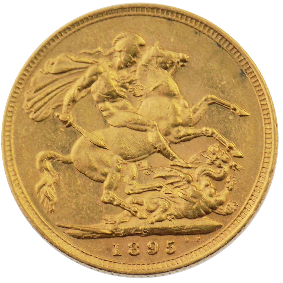 Pre-Owned 1895 Sydney Mint Victoria Veiled Head Full Sovereign Gold Coin