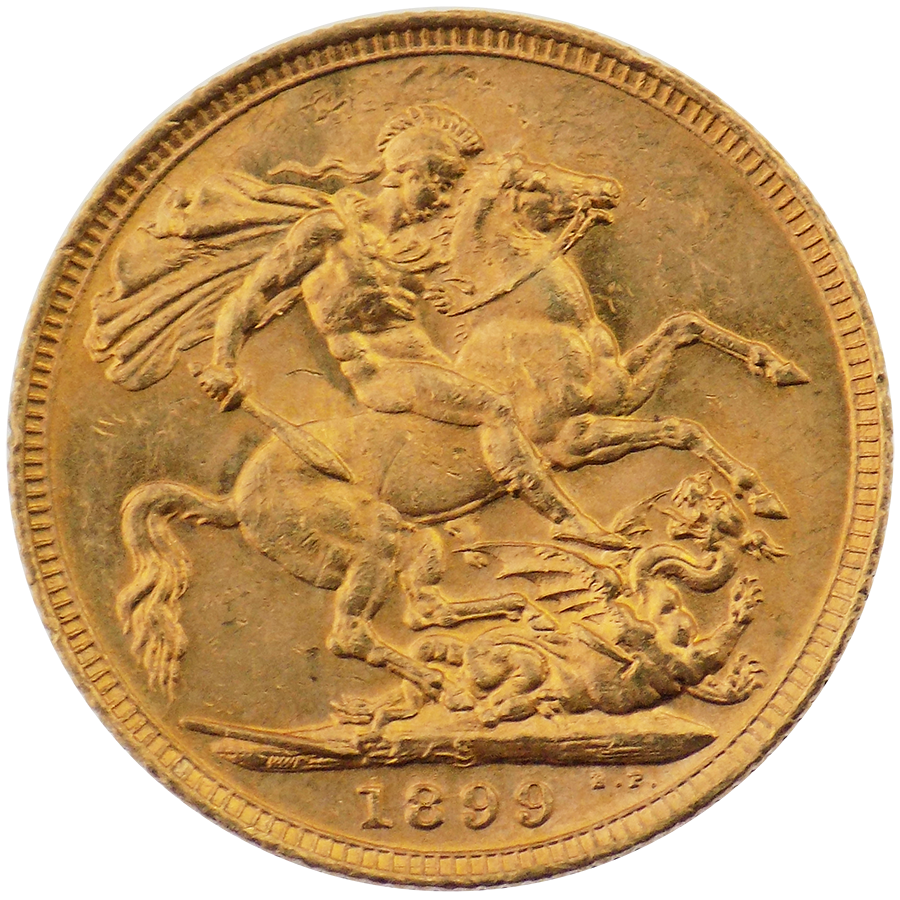 Pre-Owned 1899 Sydney Mint Victorian Full Sovereign Gold Coin
