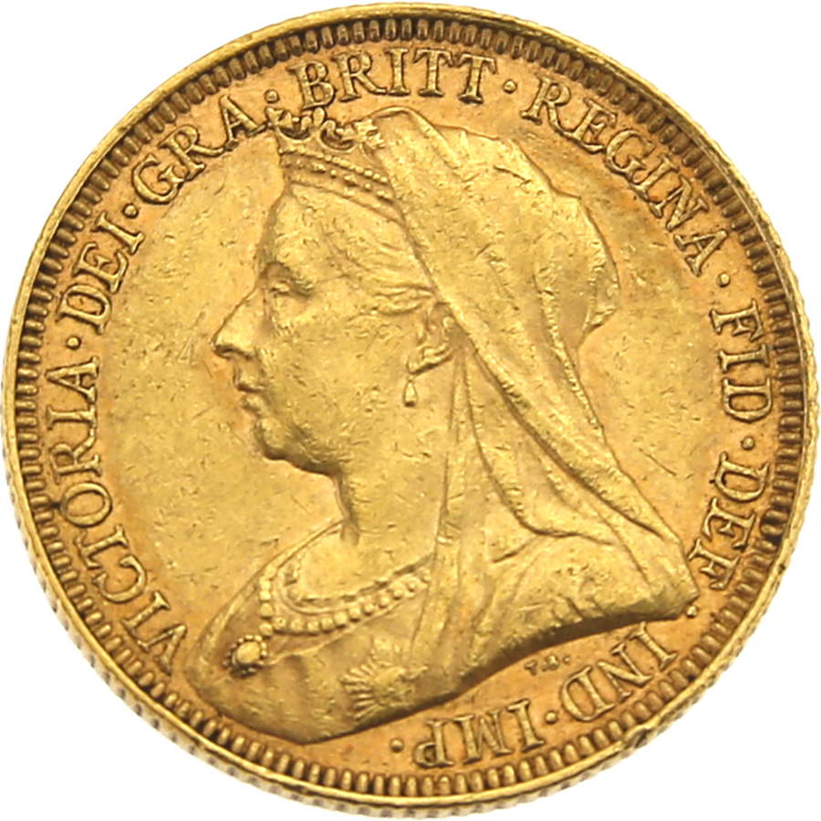 Pre-Owned 1894 Melbourne Mint Victoria 'Veiled Head' Full Sovereign Gold Coin