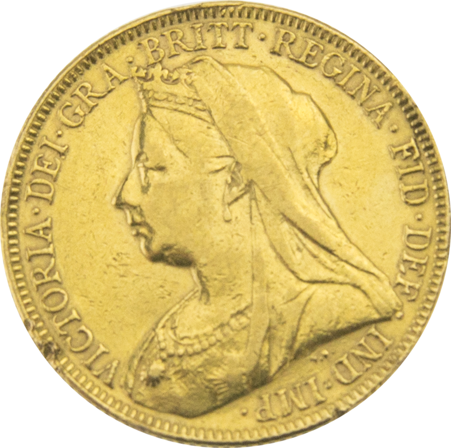 Pre-Owned 1894 London Victoria Veiled Head Full Sovereign Gold Coin