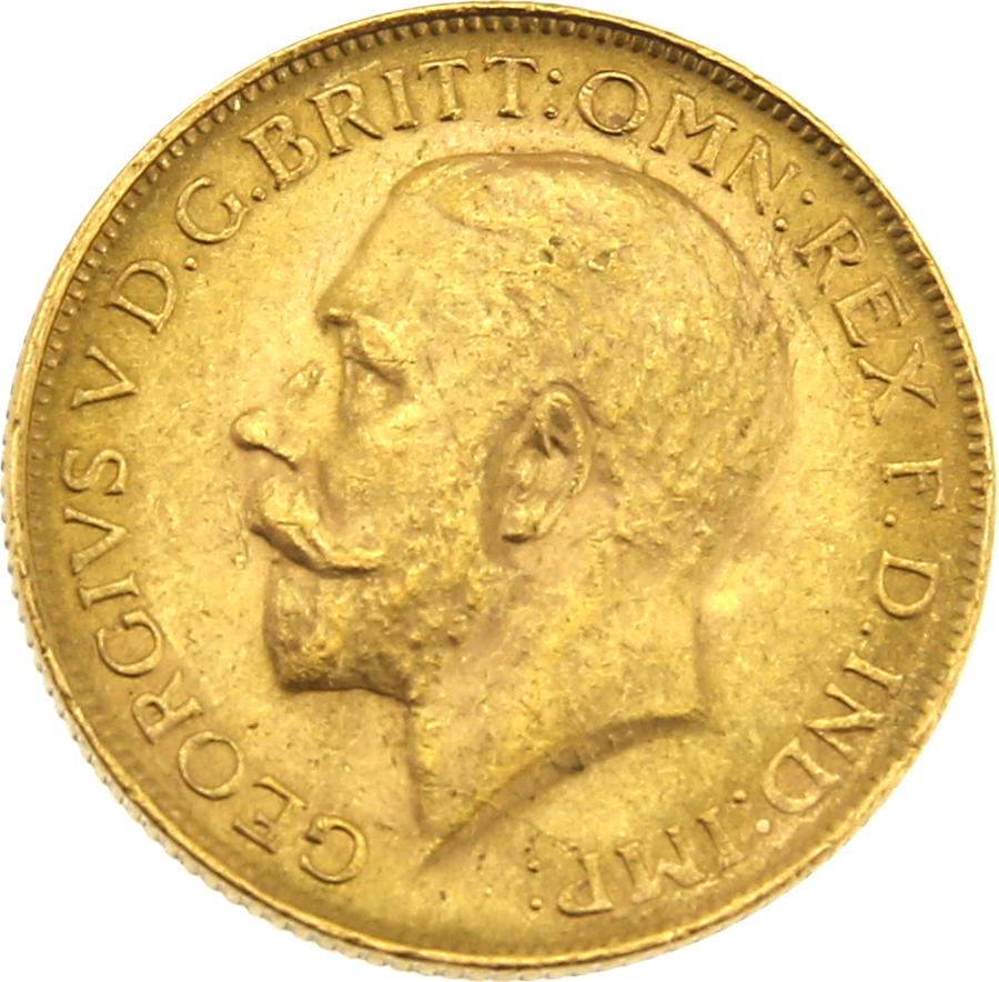 Pre-Owned 1928 South African Mint George V Full Sovereign Gold Coin