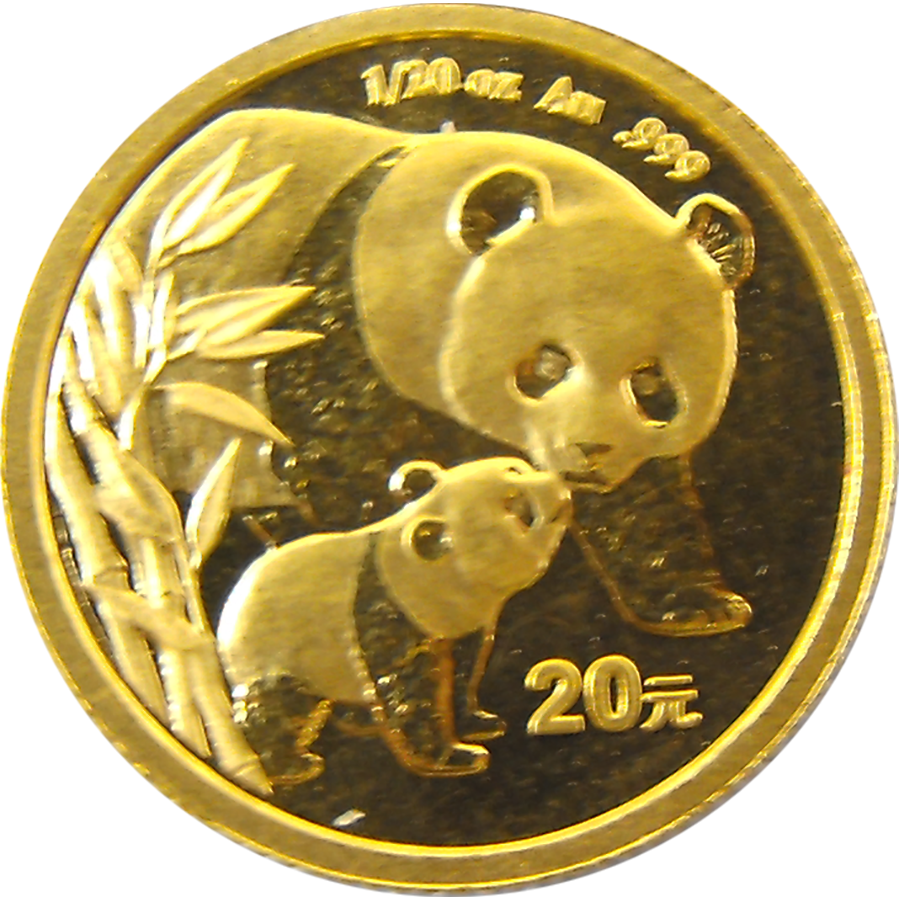 Pre-Owned 2004 Chinese Panda 1/20oz Gold Coin