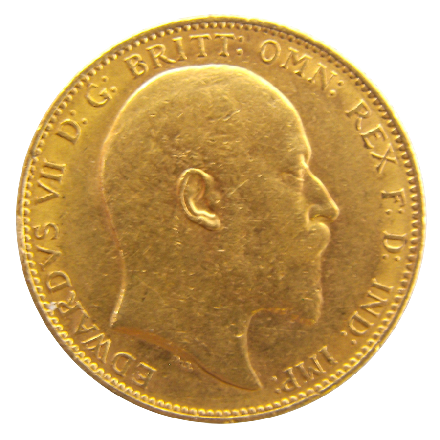 Pre-Owned 1903 Perth Mint Edward VII Full Sovereign Gold Coin (Image 1)
