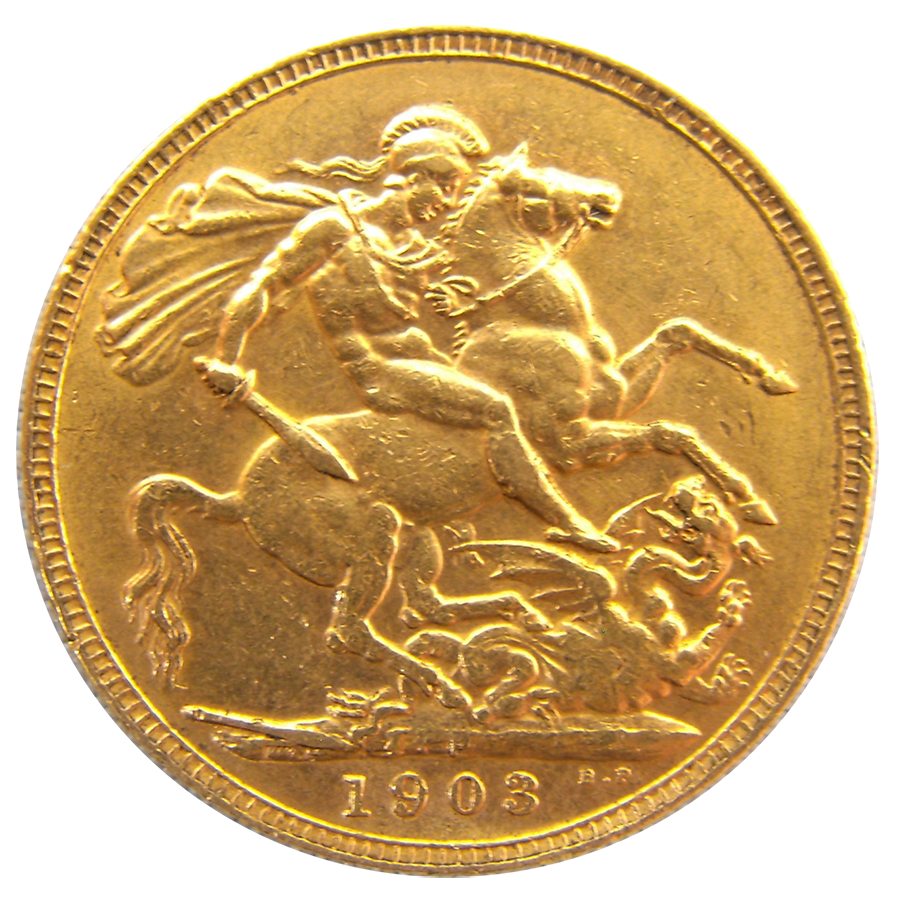 Pre-Owned 1903 Perth Mint Edward VII Full Sovereign Gold Coin (Image 2)