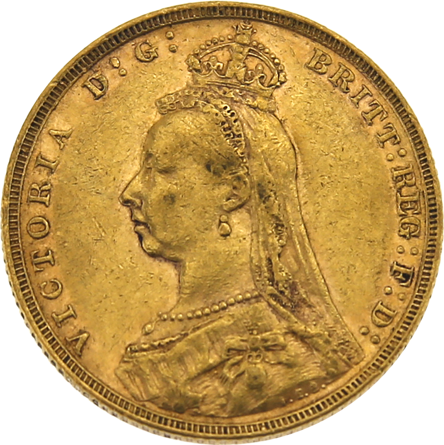 Pre-Owned 1890 London Mint Victorian Jubilee Head Full Sovereign Gold Coin