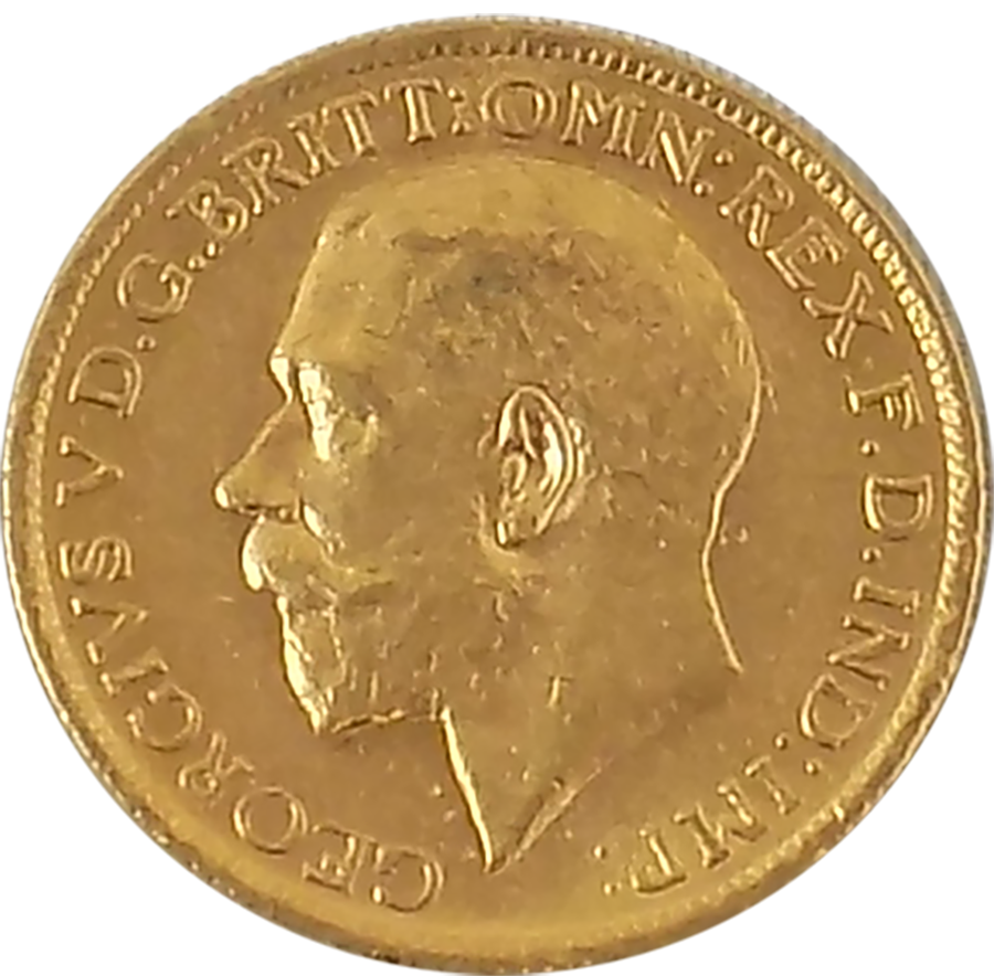 Pre-Owned 1912 Sydney Mint George V Full Sovereign Gold Coin