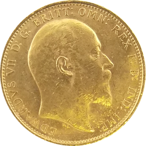 Pre-Owned 1907 Sydney Mint Edward VII Full Sovereign Gold Coin