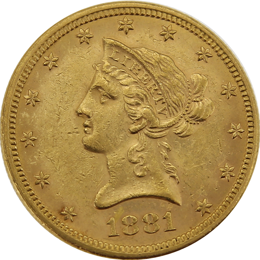 Pre-Owned 1881 USA Liberty Eagle $10 Gold Coin
