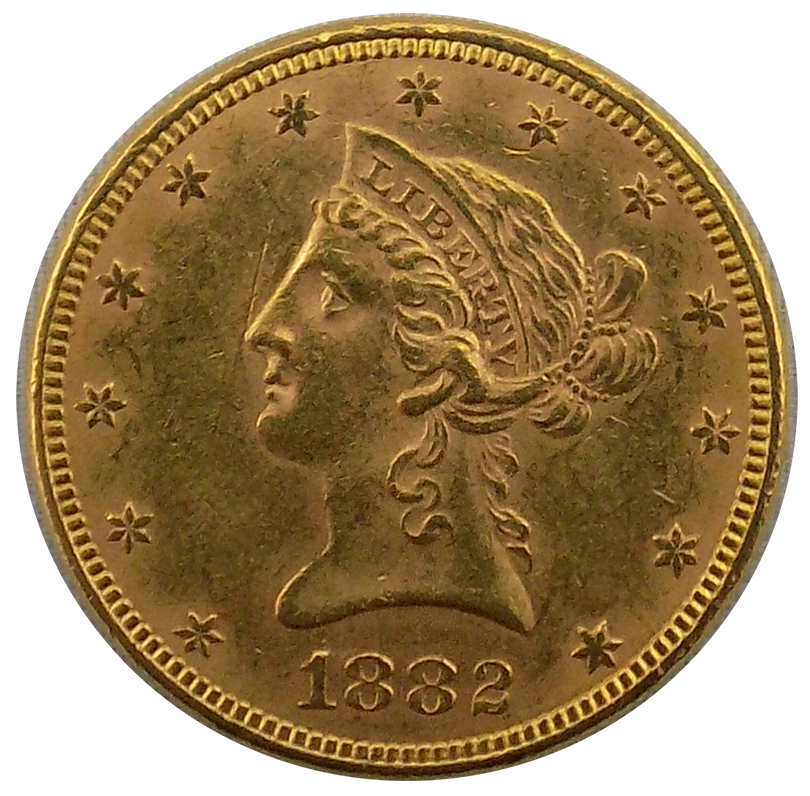 Pre Owned 1882 Usa Liberty Eagle 10 Gold Coin Atkinsons