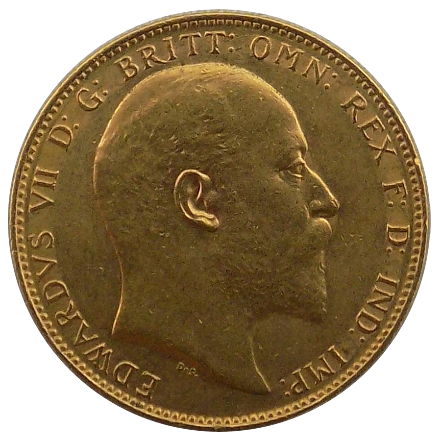 Pre-Owned 1905 Perth Mint Edward VII Full Sovereign Gold Coin