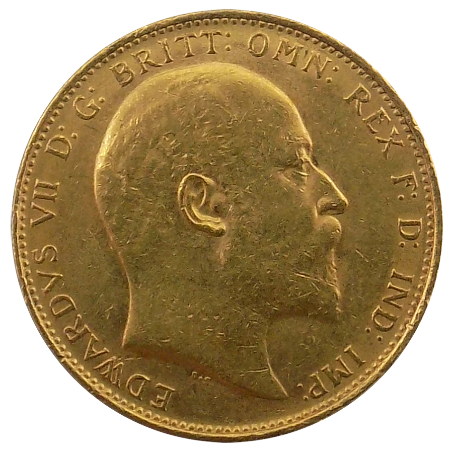 Pre-Owned 1910 Melbourne Mint Edward VII Full Sovereign Gold Coin