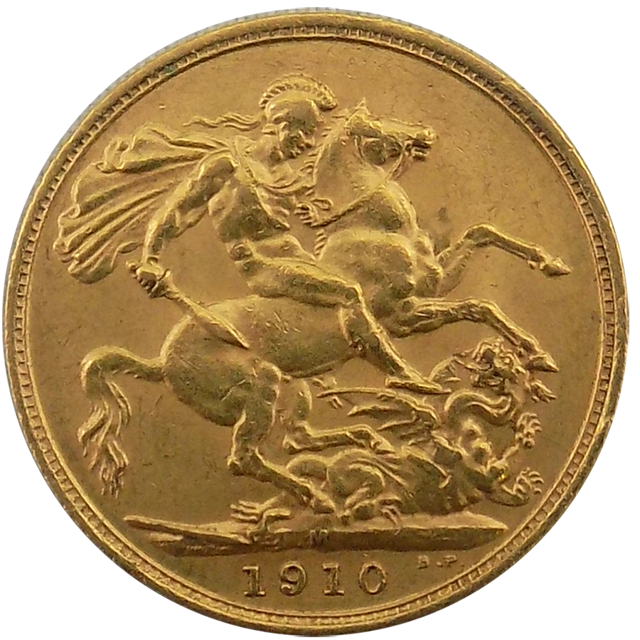 1910 Melbourne Mint Edward Vii Full Sovereign Gold Coin