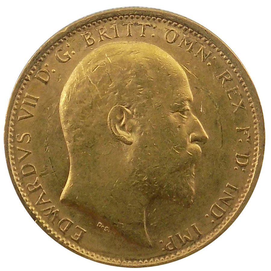 Pre-Owned 1905 Sydney Mint Edward VII Full Sovereign Gold Coin