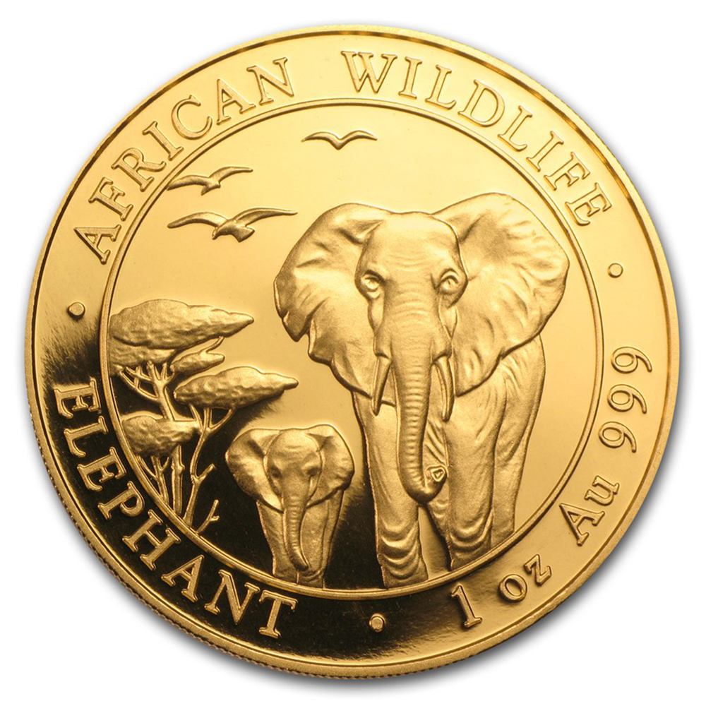 Pre-Owned 2015 Somalian Elephant 1oz Gold Coin
