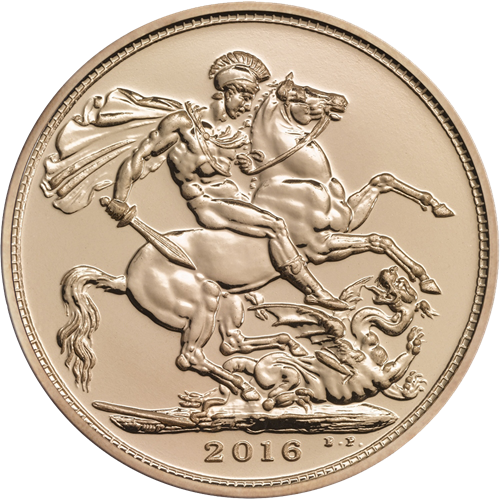 2016 UK Half Sovereign Gold Coin