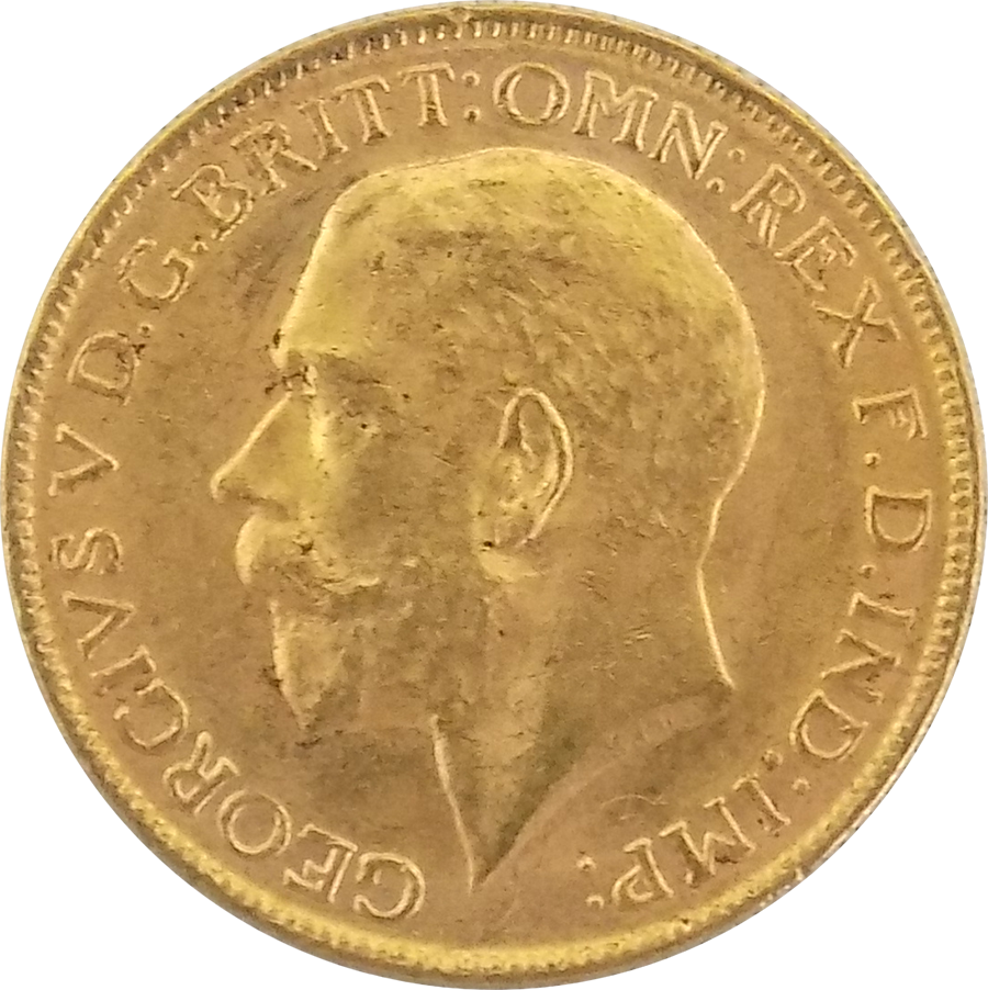 Pre-Owned 1919 George V Full Sovereign Gold Coin