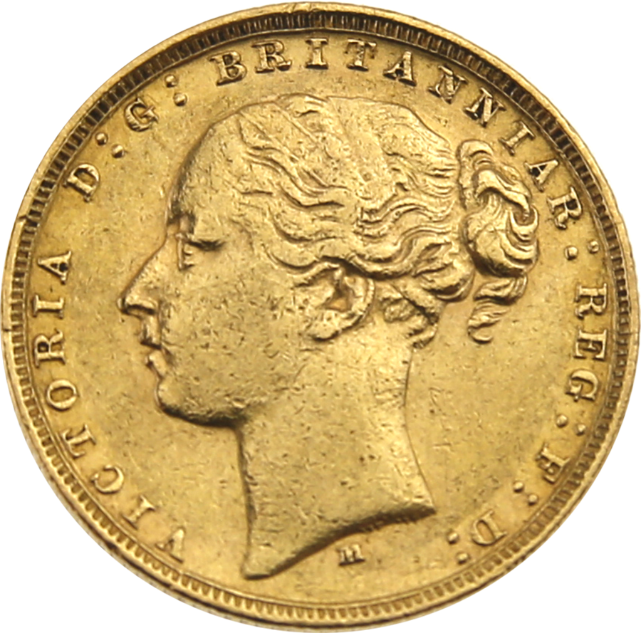 Pre-Owned 1879 Melbourne Mint Victoria Young Head Full Sovereign Gold Coin (Image 1)