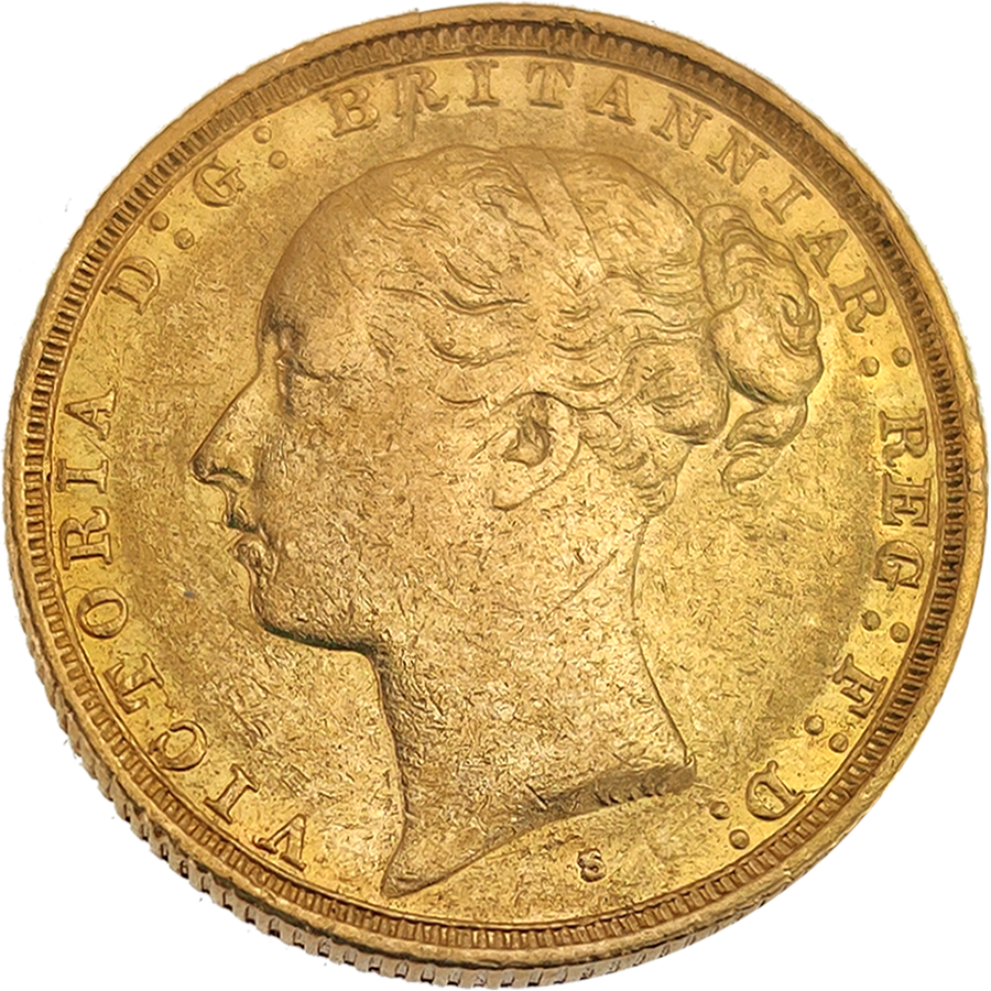 Pre-Owned 1886 Sydney Mint Victoria Young Head Full Sovereign Gold Coin