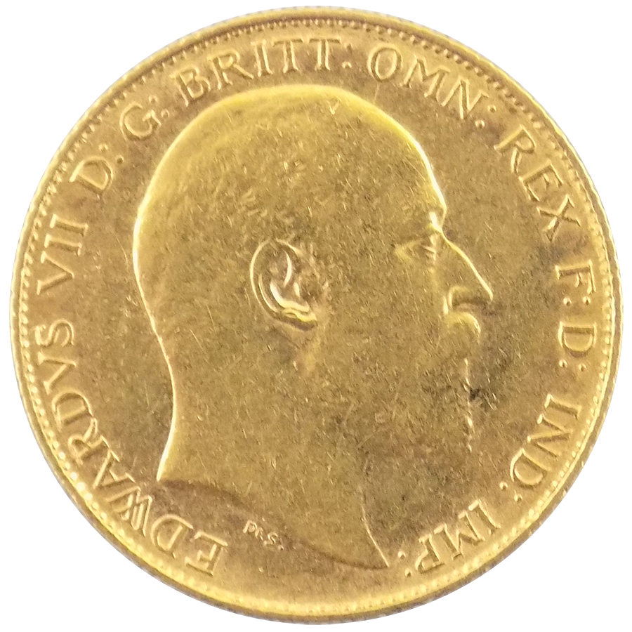 Pre-Owned 1903 UK Edward VII Half Sovereign Gold Coin