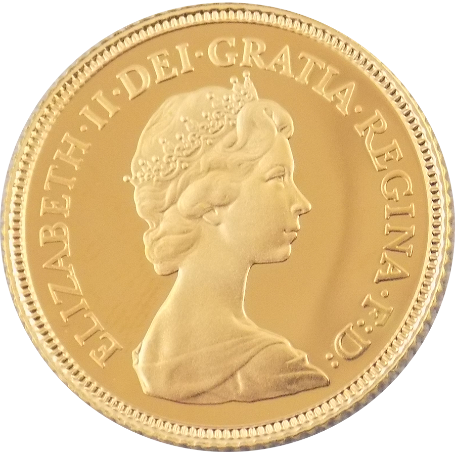 Pre-Owned 1980 UK QEII Half Sovereign Gold Coin