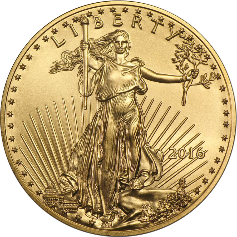 2016 USA Eagle 1/2oz Gold Coin