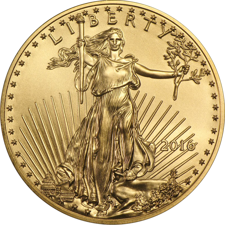 2016 USA Eagle 1/10oz Gold Coin