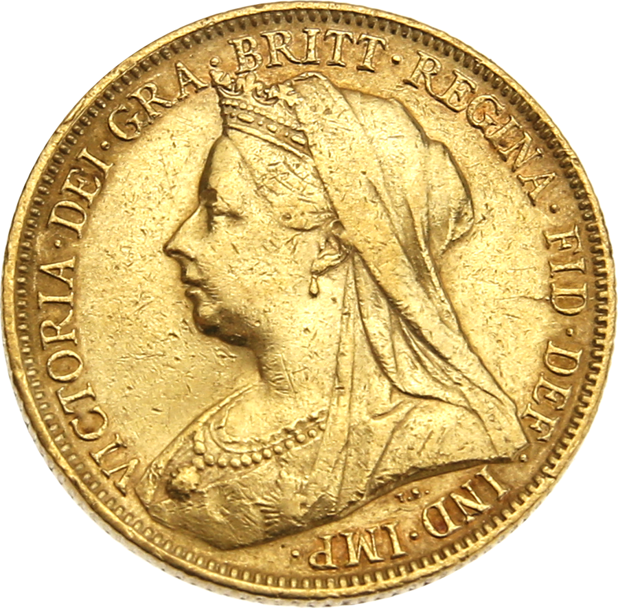 Pre-Owned 1900 Melbourne Mint Victoria 'Veiled Head' Full Sovereign Gold Coin