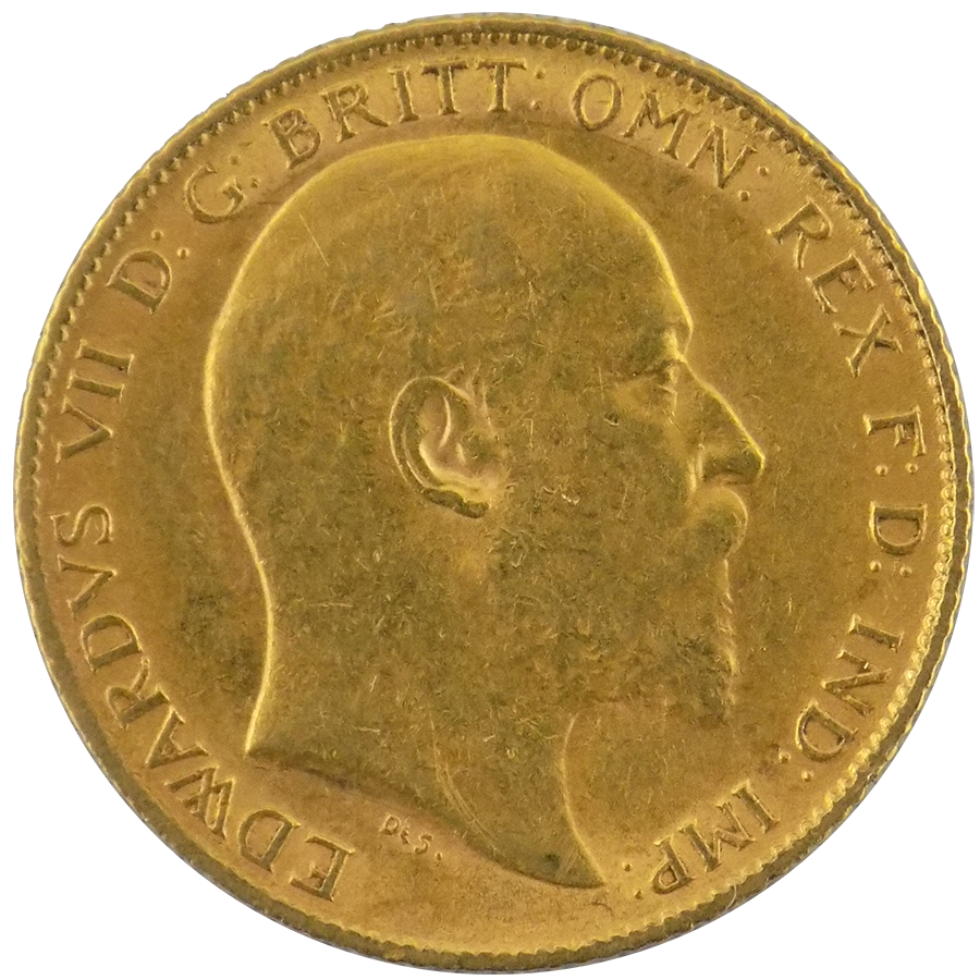Pre Owned 1905 Uk Edward Vii Half Sovereign Gold Coin