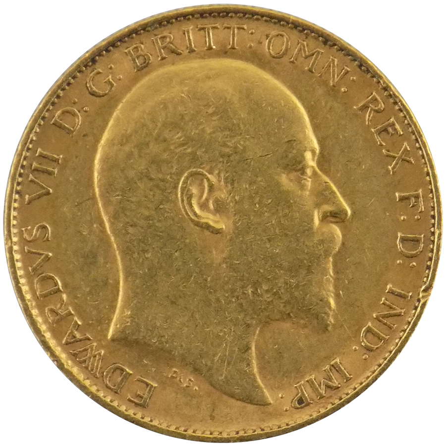 Pre-Owned 1902 UK Edward VII Half Sovereign Gold Coin